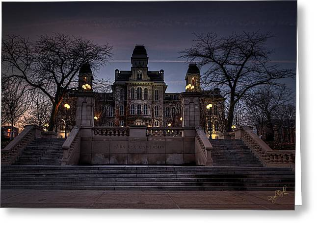 Hogwarts - Hall Of Languages Greeting Card