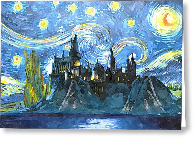 Harry Potter Starry Night Greeting Card