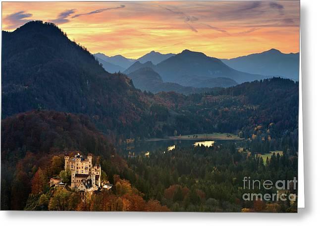 Hohenschwangau Castle Greeting Card by Henk Meijer Photography