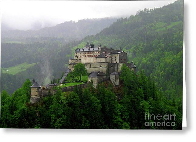 Hohenwerfen Castle Greeting Card