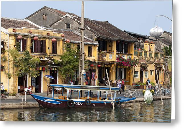 Hoi An Ancient Town Greeting Card by Rob Hemphill