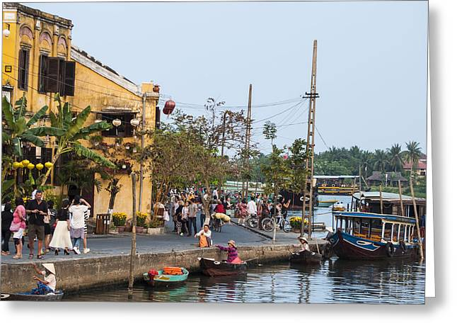 Hoi An Town Vietnam Greeting Card by Rob Hemphill