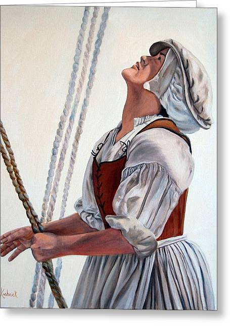 Hoisting Sails Greeting Card