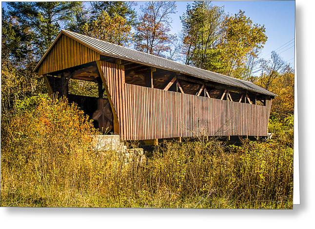 Hoke's Mill Covered Bridge Greeting Card by Jack R Perry