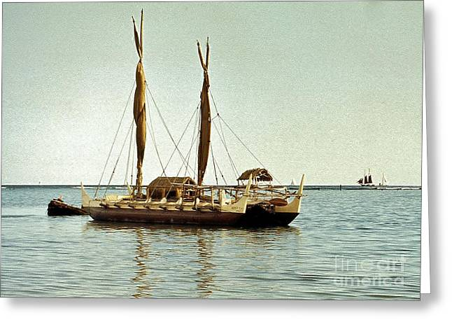 Hokulea - Voyaging Canoe Greeting Card by Craig Wood