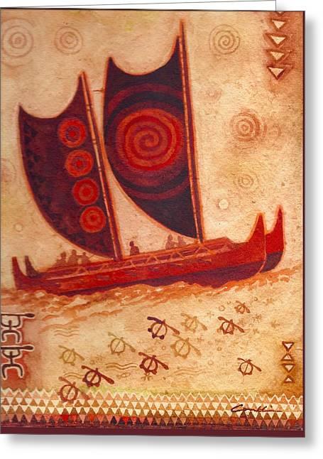 Hokulea 12/20/15 Greeting Card by Cynthia Conklin