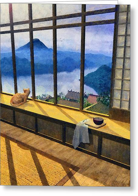 Hokusai Painted Greeting Card