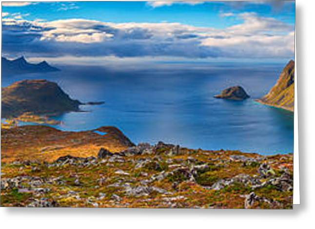 Greeting Card featuring the photograph Holandsmelen Panorama by James Billings