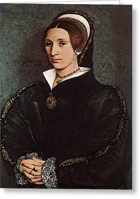 Holbien The Younger Portrait Of Catherine Howard Greeting Card by Hans Holbein the Younger