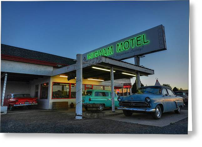 Holbrook Az - Wigwam Motel 010 Greeting Card by Lance Vaughn