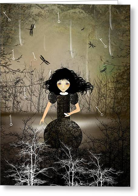Hold Back The Rain Greeting Card by Charlene Zatloukal