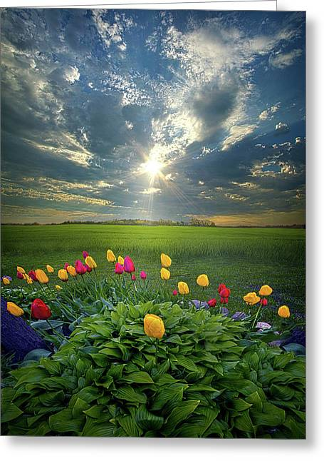 Hold Fast What Is Good Greeting Card by Phil Koch