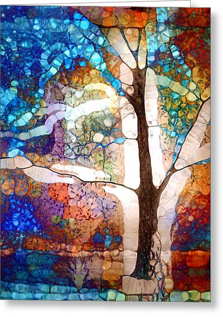 Hold Me In The White Light Greeting Card by Tara Turner