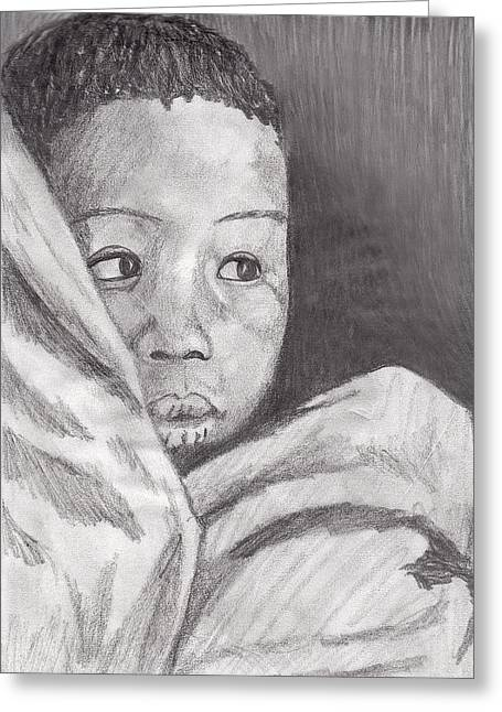 Greeting Card featuring the drawing Hold Me Mom by Jean Haynes