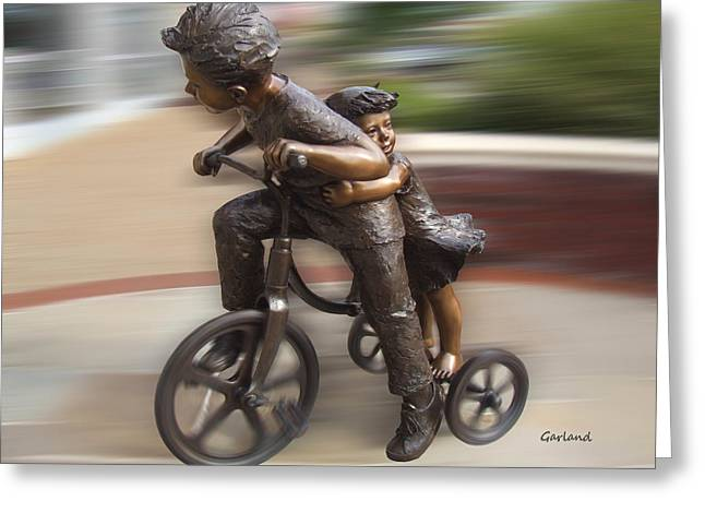 Hold On Greeting Card by Garland Johnson