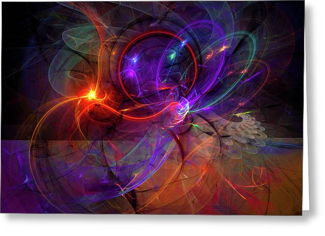 Hold On Love - Abstract Colorful Art Greeting Card