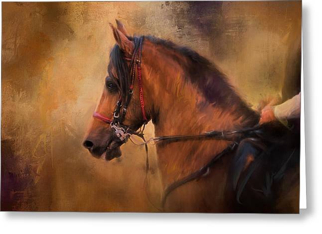 Hold Your Head High Horse Art Greeting Card by Jai Johnson