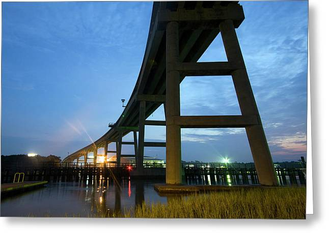 Holden Beach Bridge Greeting Card