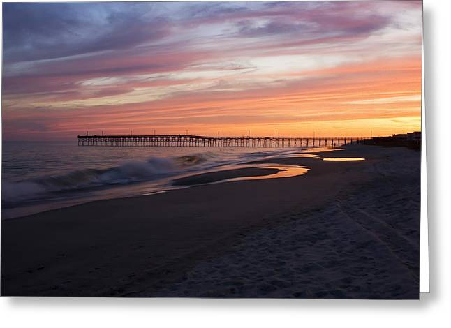 Holden Beach Pier Greeting Card by Alan Raasch