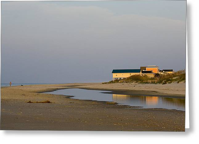 Holden Beach Reflections 1 Greeting Card by Alan Raasch