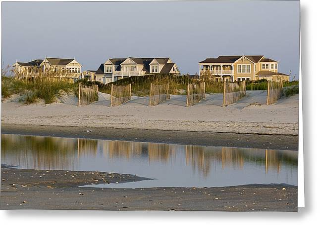 Holden Beach Reflections 2 Greeting Card by Alan Raasch