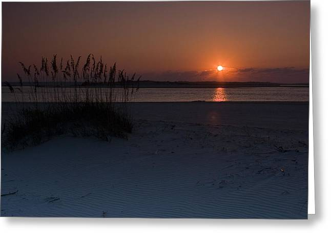 Greeting Card featuring the photograph Holden Beach Sunrise 1 by Alan Raasch