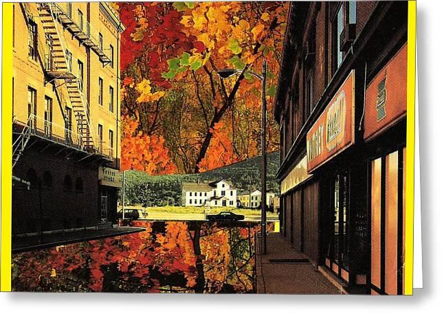 Holden Street Greeting Card by Gabe Art Inc