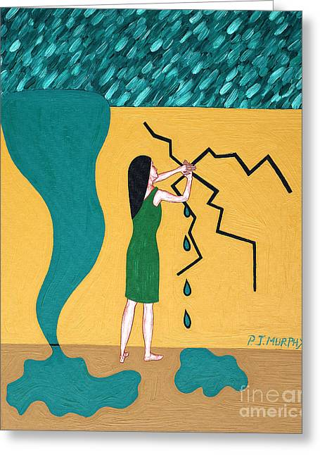 Holding Back The Flood Greeting Card by Patrick J Murphy