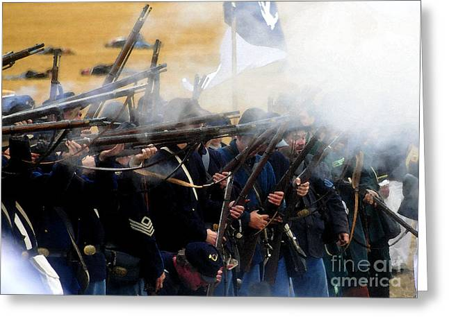 Holding The Line At Gettysburg Greeting Card by David Lee Thompson