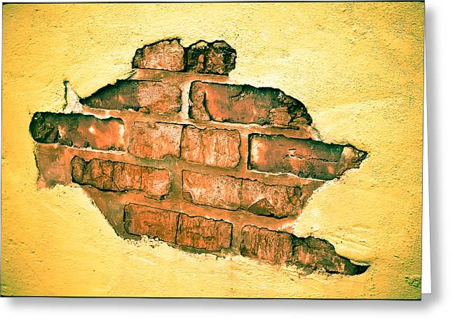 Hole In The Wall Greeting Card by Keith Sanders