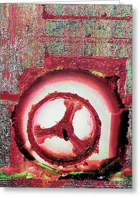 Greeting Card featuring the mixed media Hole Opposite by Tony Rubino