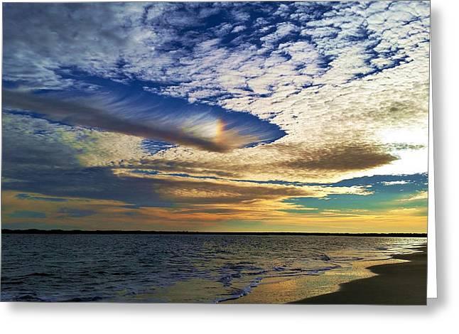 Hole Punch Cloud Greeting Card