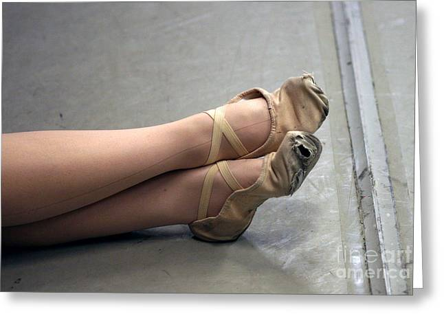 Holes In Dance Shoes Greeting Card