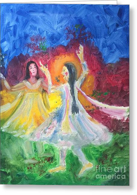 Holi-festival Of Colors Greeting Card