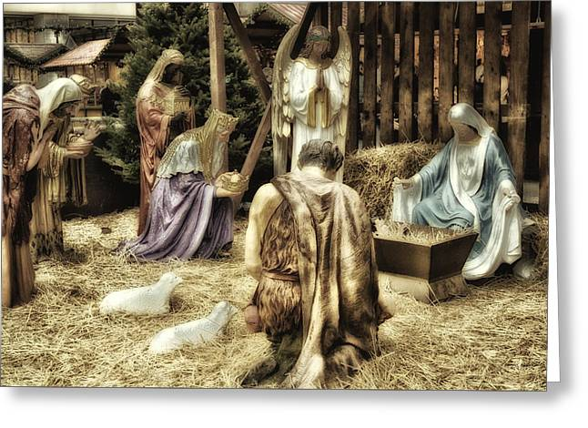Holiday Christmas Manger Pa 02 Greeting Card by Thomas Woolworth