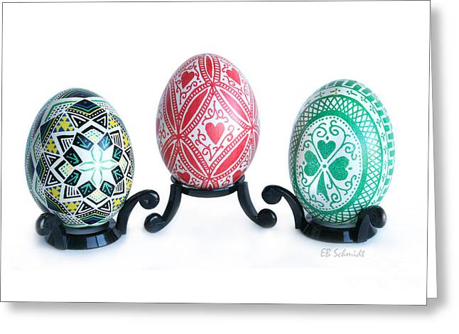 Holiday Eggs Greeting Card