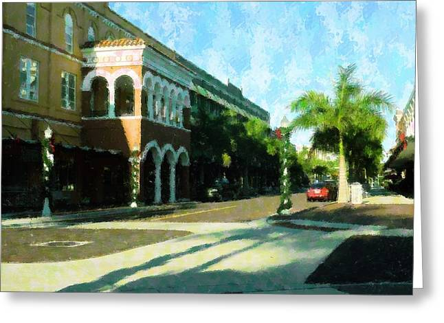 Holiday Ft. Myers Greeting Card by Florene Welebny