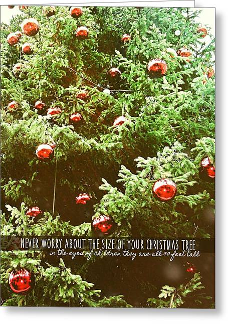 Holiday Garnish Quote Greeting Card by JAMART Photography