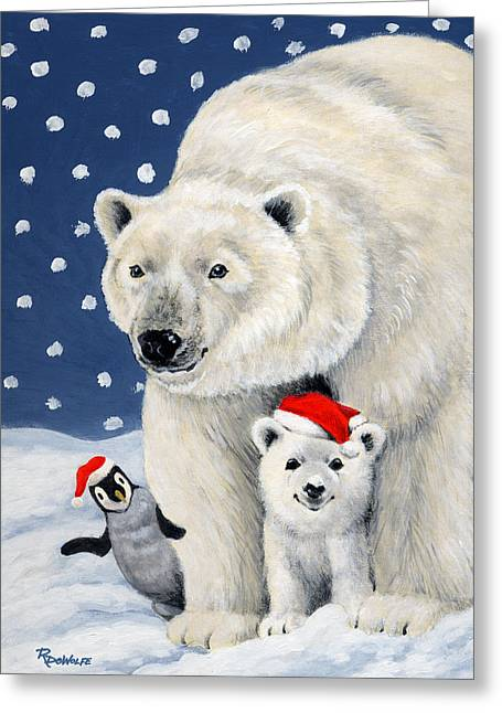 Holiday Greetings Greeting Card by Richard De Wolfe