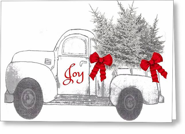 Greeting Card featuring the digital art Holiday Joy Chesilhurst Farm by Kim Kent