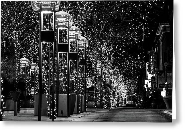 Holiday Lights - 16th Street Mall Greeting Card