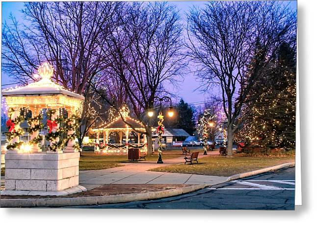 Greeting Card featuring the photograph Holiday Lights In Easthampton by Sven Kielhorn