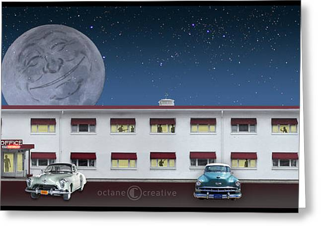 1960 Greeting Cards - Holiday Motel Greeting Card by Tim Nyberg