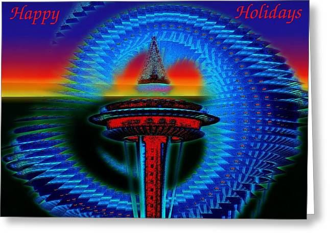 Holiday Needle 2 Greeting Card by Tim Allen
