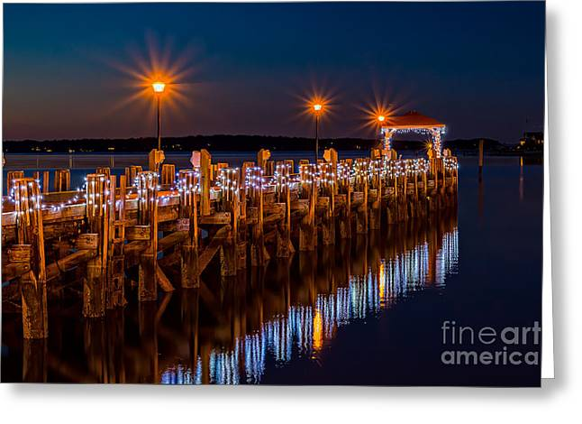 Holiday On The Docks Greeting Card