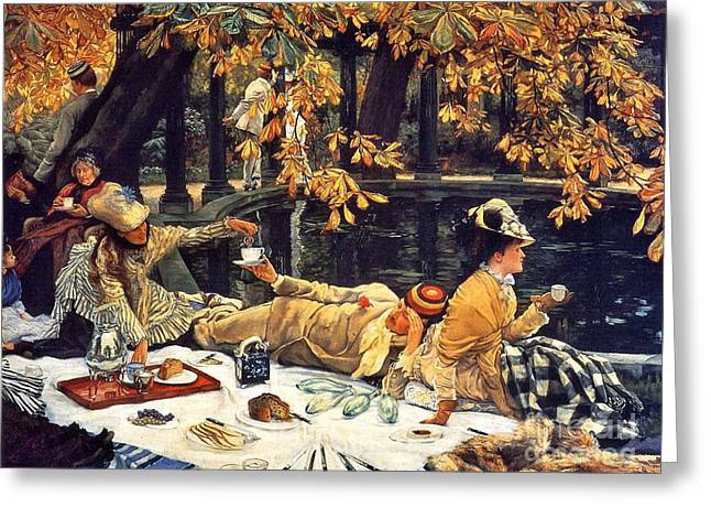 Holiday Picnic 1876 Greeting Card by Padre Art