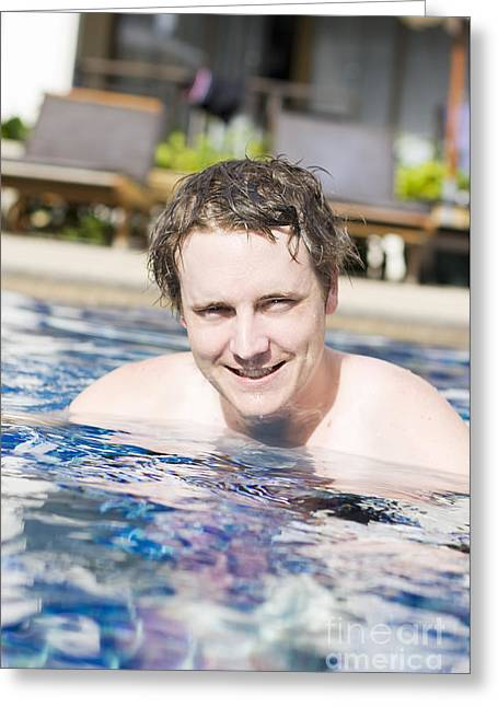 Holiday Resort Man Greeting Card by Jorgo Photography - Wall Art Gallery