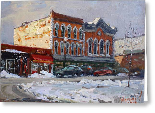 Holiday Shopping In Tonawanda Greeting Card by Ylli Haruni