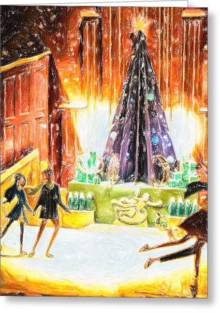 Holiday Skate Greeting Card