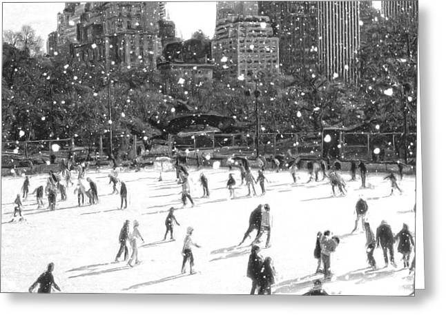 Holiday Skaters Greeting Card